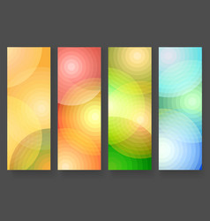 Four abstract vertical colorful banners vector