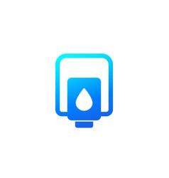 Hand sanitizer dispenser or antibacterial gel icon vector