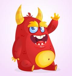 Happy cartoon monster cartoon vector image