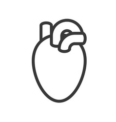 Heart human organ related outline icon vector