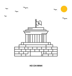 Ho chi minh monument world travel natural vector