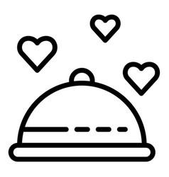Honeymoon food icon outline style vector