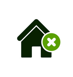 House icon with cancel sign vector