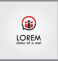 Human talking abstract logo vector