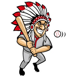 Indian chief baseball mascot vector