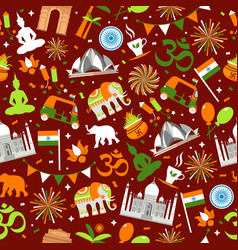 indian seamless pattern for your design india vector image