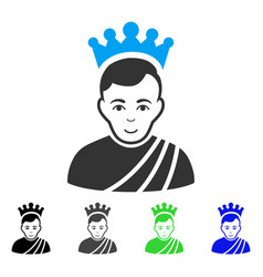 Joy emperor icon vector