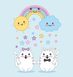 Kawaii cartoon image vector