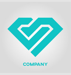 letter cb diamond logo vector image