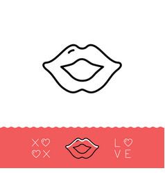 Lips icon xoxo - hugs and kisses valentines vector