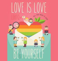 Love is love vector
