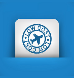 Low cost airline stylized grunge icon vector