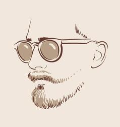 man in glasses eps 10 vector image