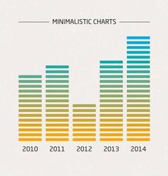 Minimalistic Charts vector