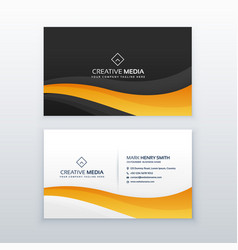 Modern dark business card design vector