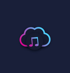 music streaming service vector image