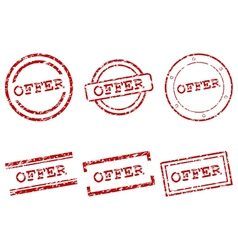 Offer stamps vector image