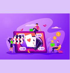 Online poker concept vector