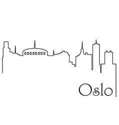 oslo city one line drawing background vector image