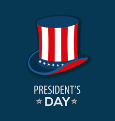 presidents day poster design with uncle sam hat vector image