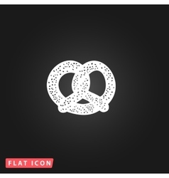 Pretzel flat icon vector