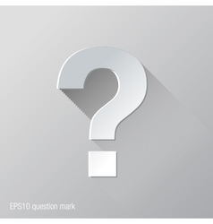 Question Mark Flat Icon Design vector image