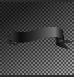 realistic shiny black ribbon banner isolated vector image