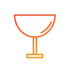 restaurant or bar glass cup beverage cocktail vector image