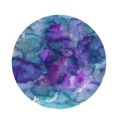 Round watercolor texture in vector image