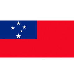 samoan flag vector image vector image