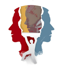 Schizophrenia psychiatric examination concept vector