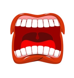 Scream Man shouts Violent emotion Open your mouth vector image
