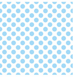 seamless pattern with cute tile blue polka dots on vector image