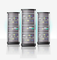 server room hosting data center cloud database vector image