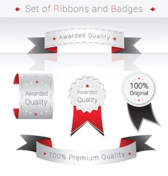 Set of Ribbons and Badges vector