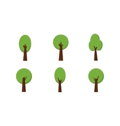 Set of Trees collection stock vector image