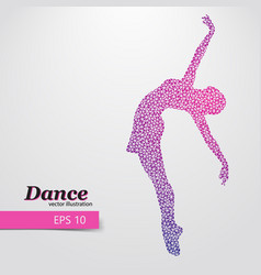 silhouette of a dancing girl from triangle dancer vector image