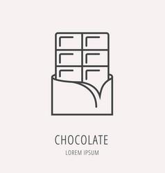 Simple logo template chocolate vector
