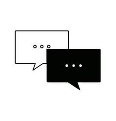Speech bubbles message chat communication talk vector