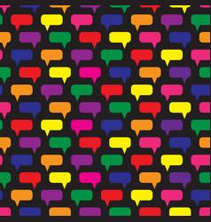 speech bubbles seamless pattern vector image