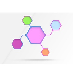 Structured diagram - information in hexagons vector image