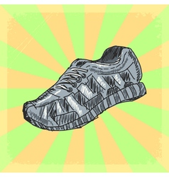 Training shoes vector