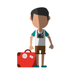 Traveler or tourist avatar icon image vector