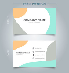 Trendy abstract business name card template vector