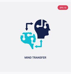 Two color mind transfer icon from artificial vector