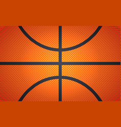 vertical ball texture for basketball sport vector image