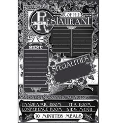 Vintage Graphic Blackboard Menu for Restaurant vector