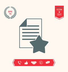 Warranty sheet paper with a star icon vector
