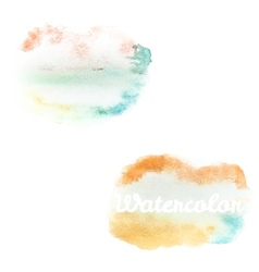 Watercolor art hand paint on white EPS 10 vector image