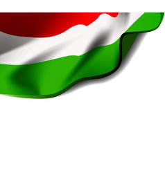 Waving flag of hungary close-up with shadow on vector